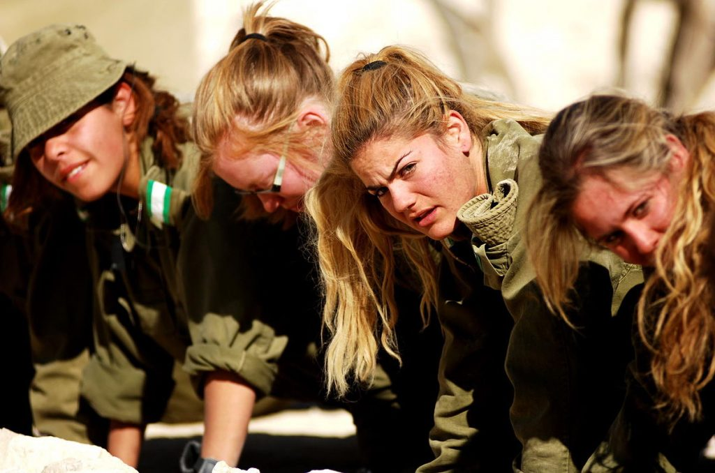 guerra: soldatesse esercito israeliano